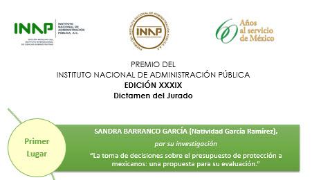 Sandra Barranco obtuvo el primer lugar