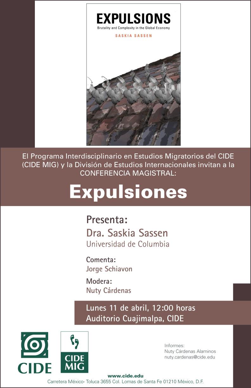 Conferencia «Expulsiones»