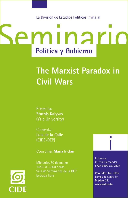 Seminario «The Marxist Paradox in Civil Wars»