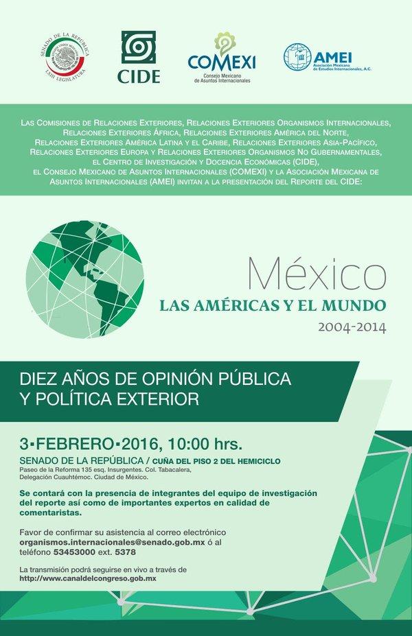 México, las Américas y el mundo 2004-2014.