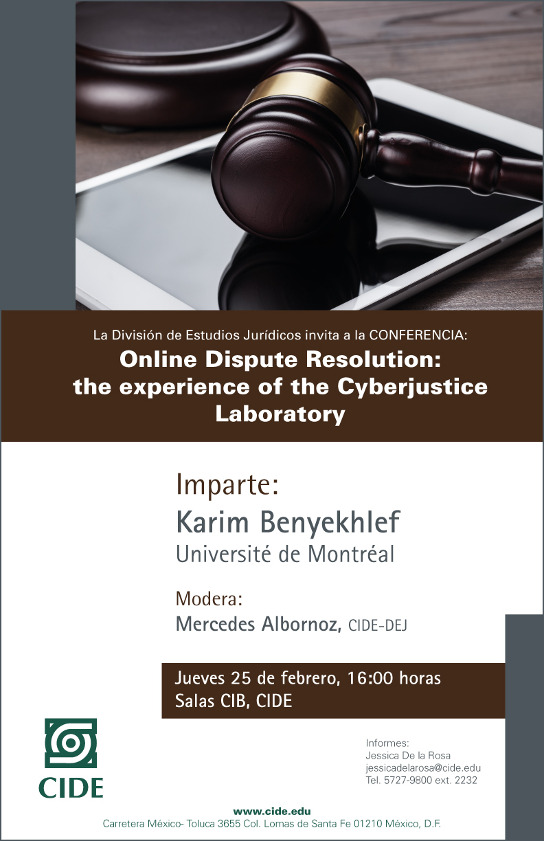 Online Dispute Resolution: the experience of the Cyberjustice Laboratory