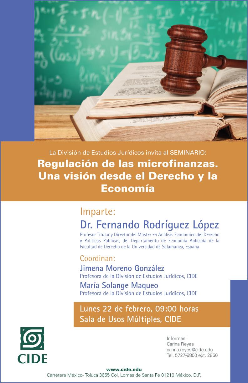 Regulación de las microfinanzas. Una visión desde el Derecho y la Economía