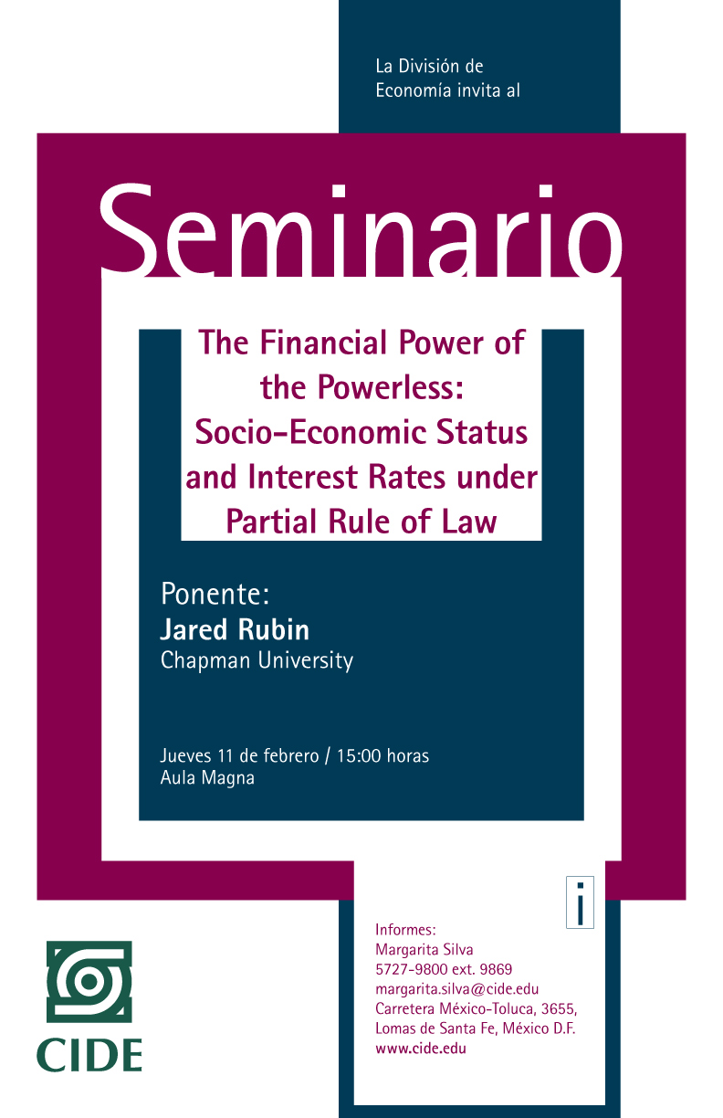The Financial Power of the Powerless: Socio-Economic Status and Interest Rates under Partial Rule of Law