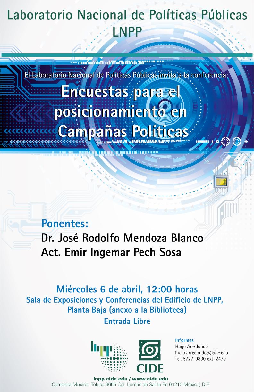 Conferencia «Encuestas para el posicionamiento en Campañas Políticas»