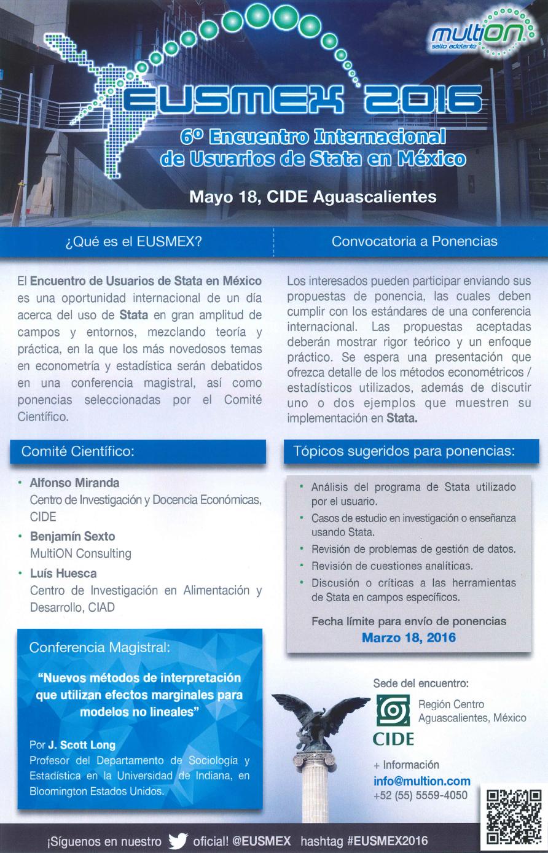 Encuentro Internacional de Usuarios de Stata en México