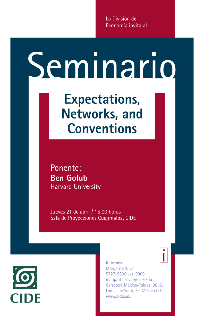Seminario «Expectations, Networks, and Conventions»