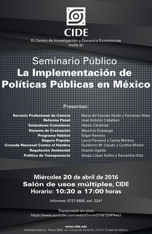 Seminario «La implementación de Políticas Públicas en México»