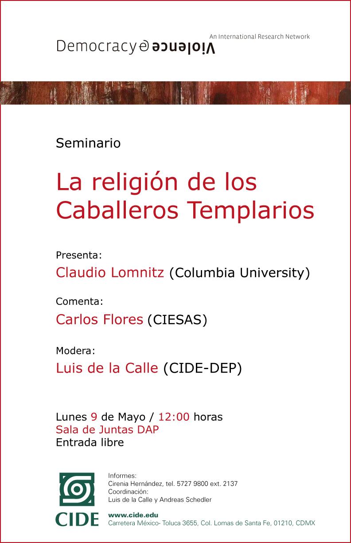 Seminario «La religión de los Caballeros Templarios»