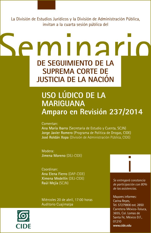 Seminario «Seguimiento de la Suprema Corte de Justicia de la Nación»