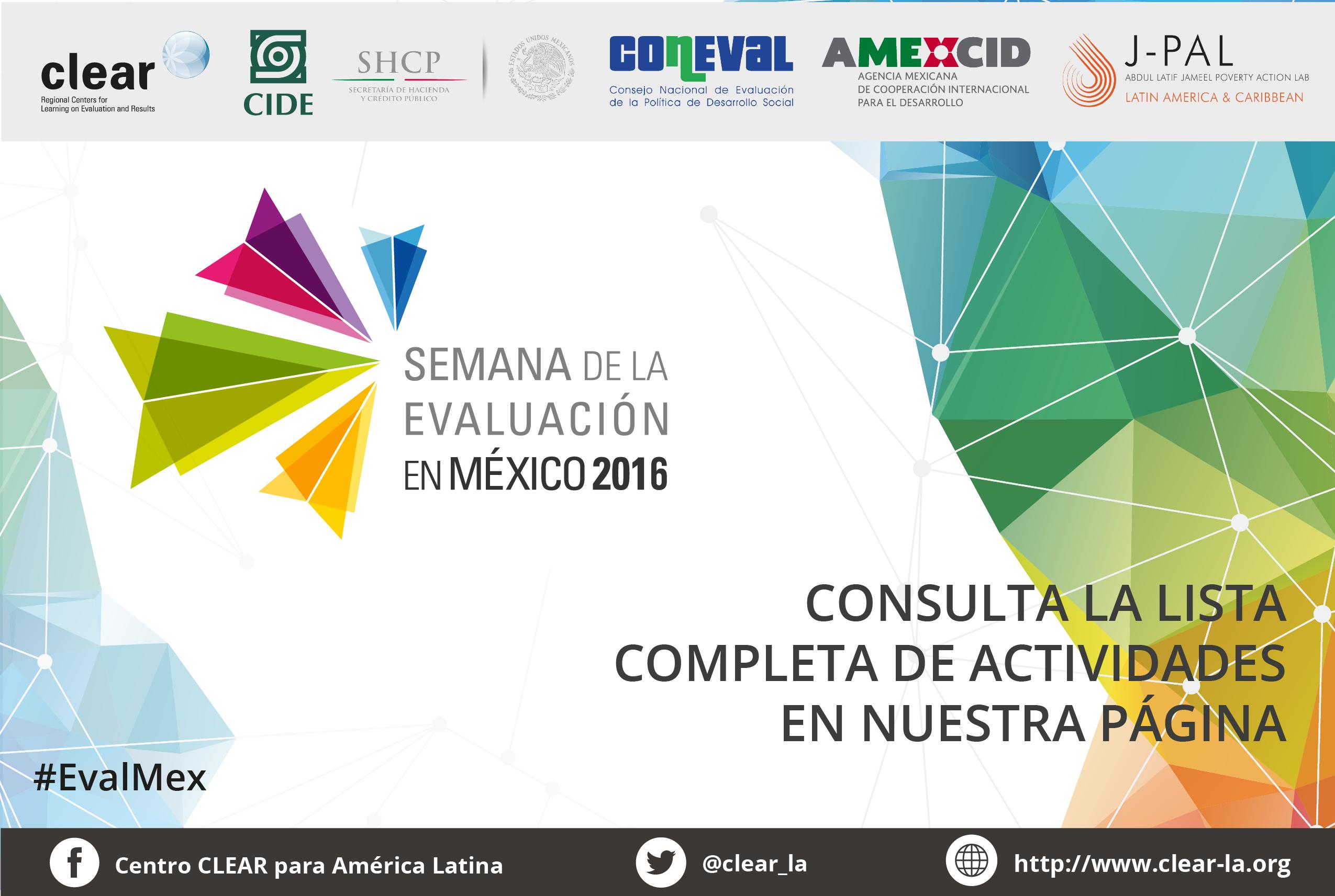 Semana de la Evaluación en México 2016