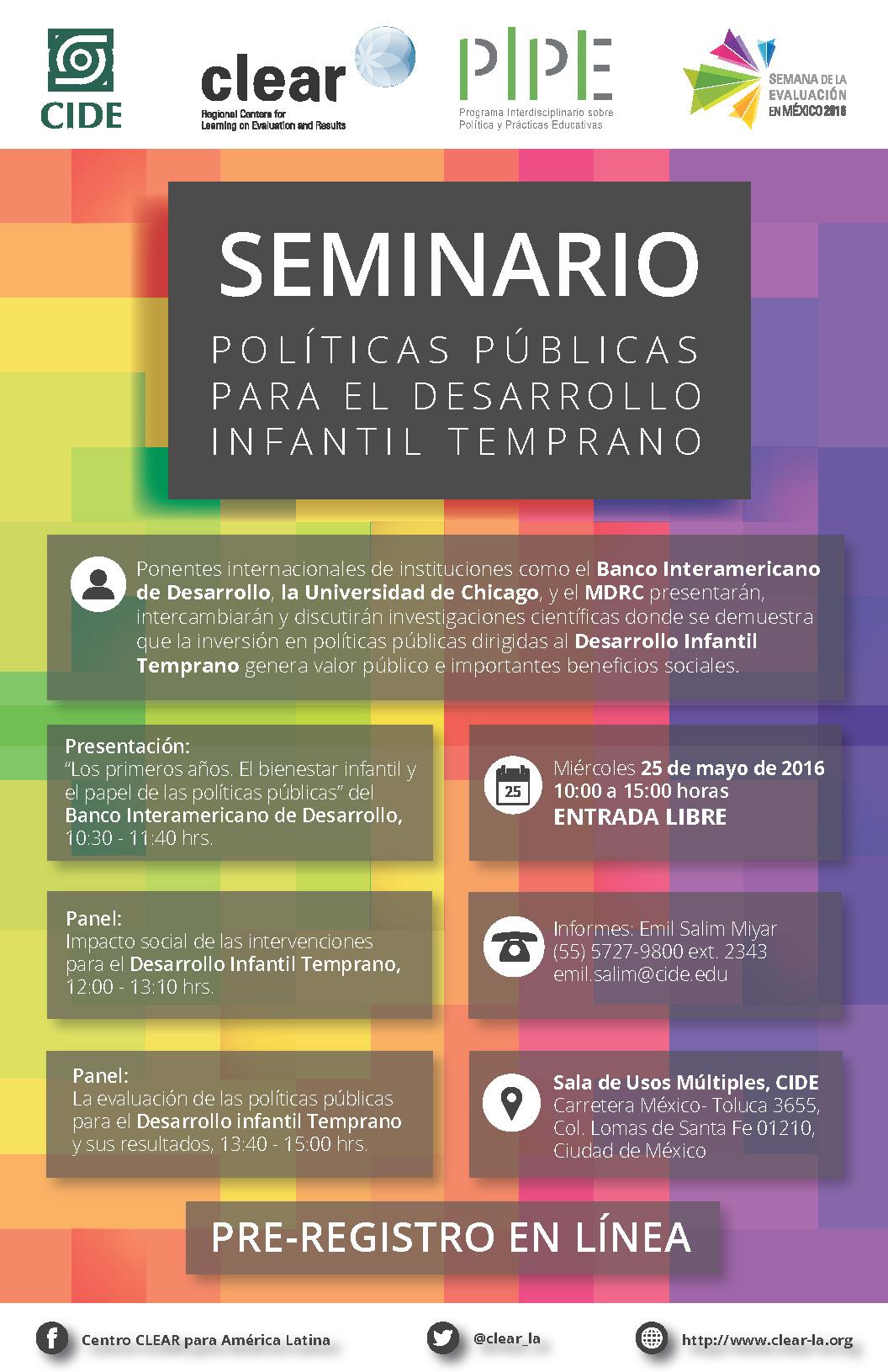 Seminario «Políticas Públicas para el Desarrollo Infantil Temprano»