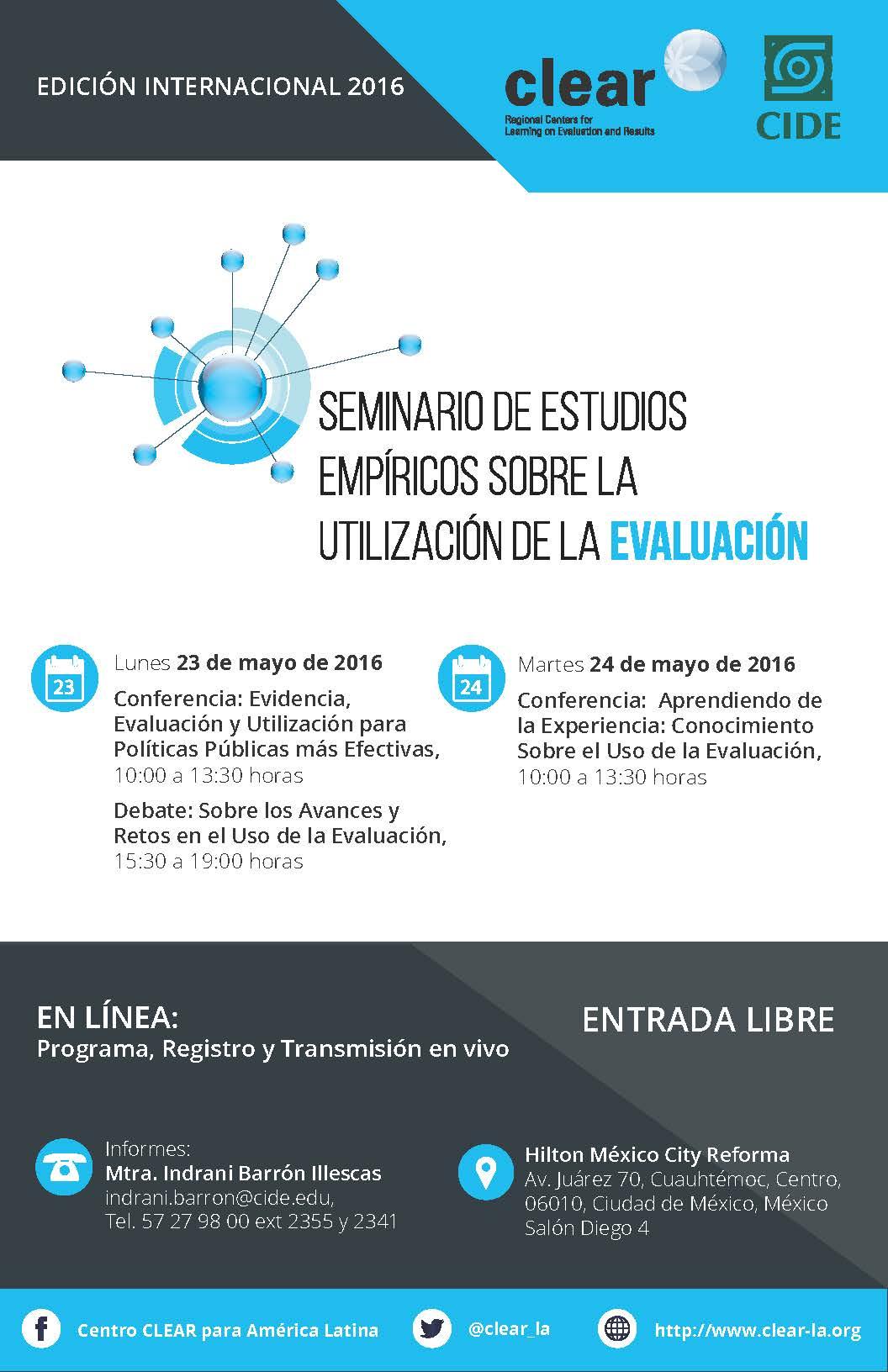 Seminario Internacional de Estudios Empíricos sobre la Utilización de la Evaluación