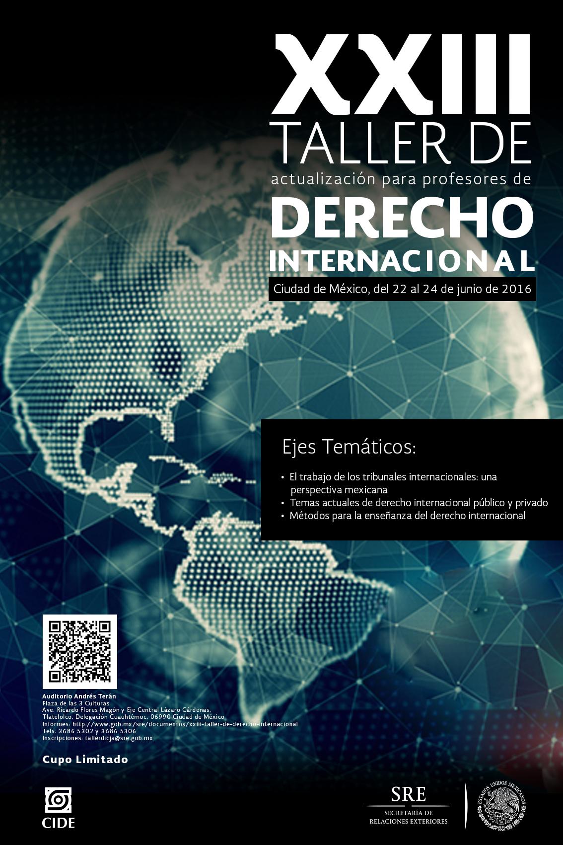 Invitación «XXIII Taller de Derecho Internacional»