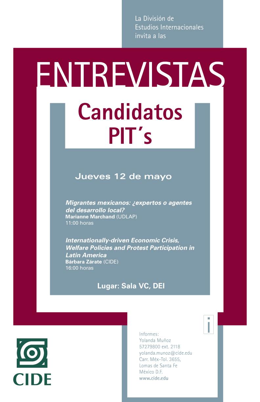 Entrevistas «Candidatos PIT´s»