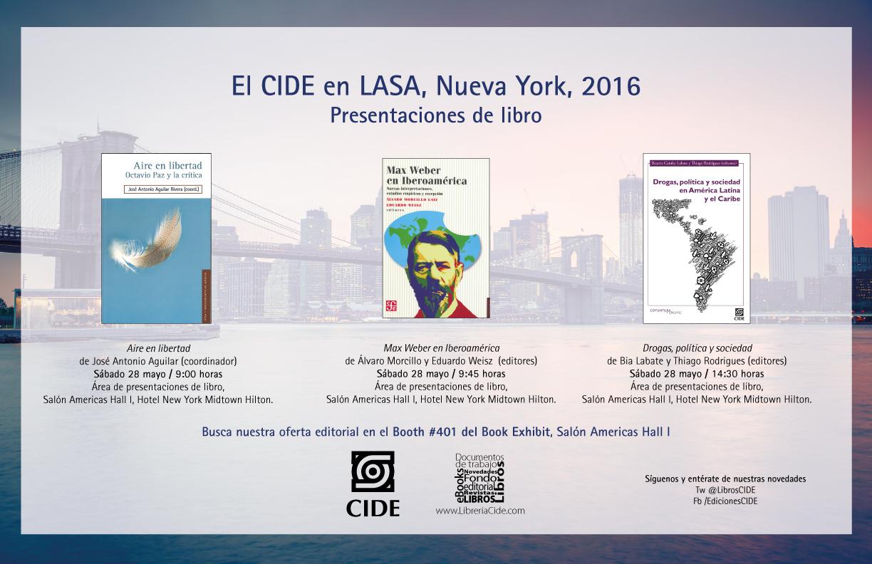 Presentaciones de libro «CIDE en LASA»