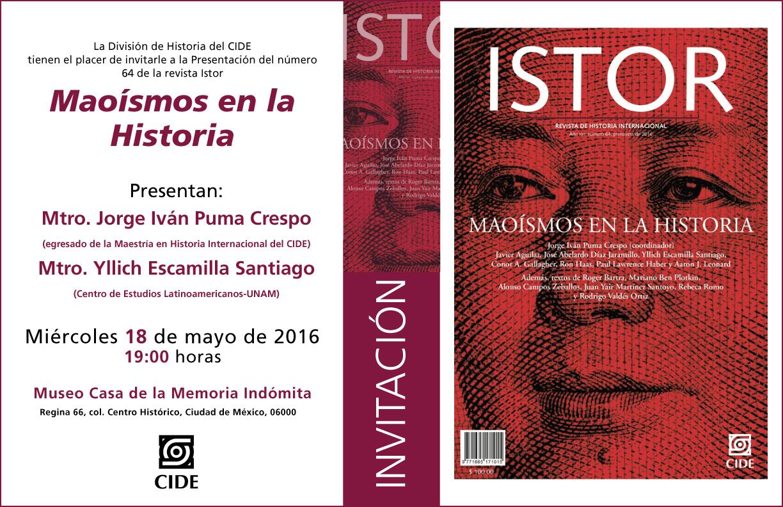 Presentación Istor 64 «Maoísmos en la Historia»