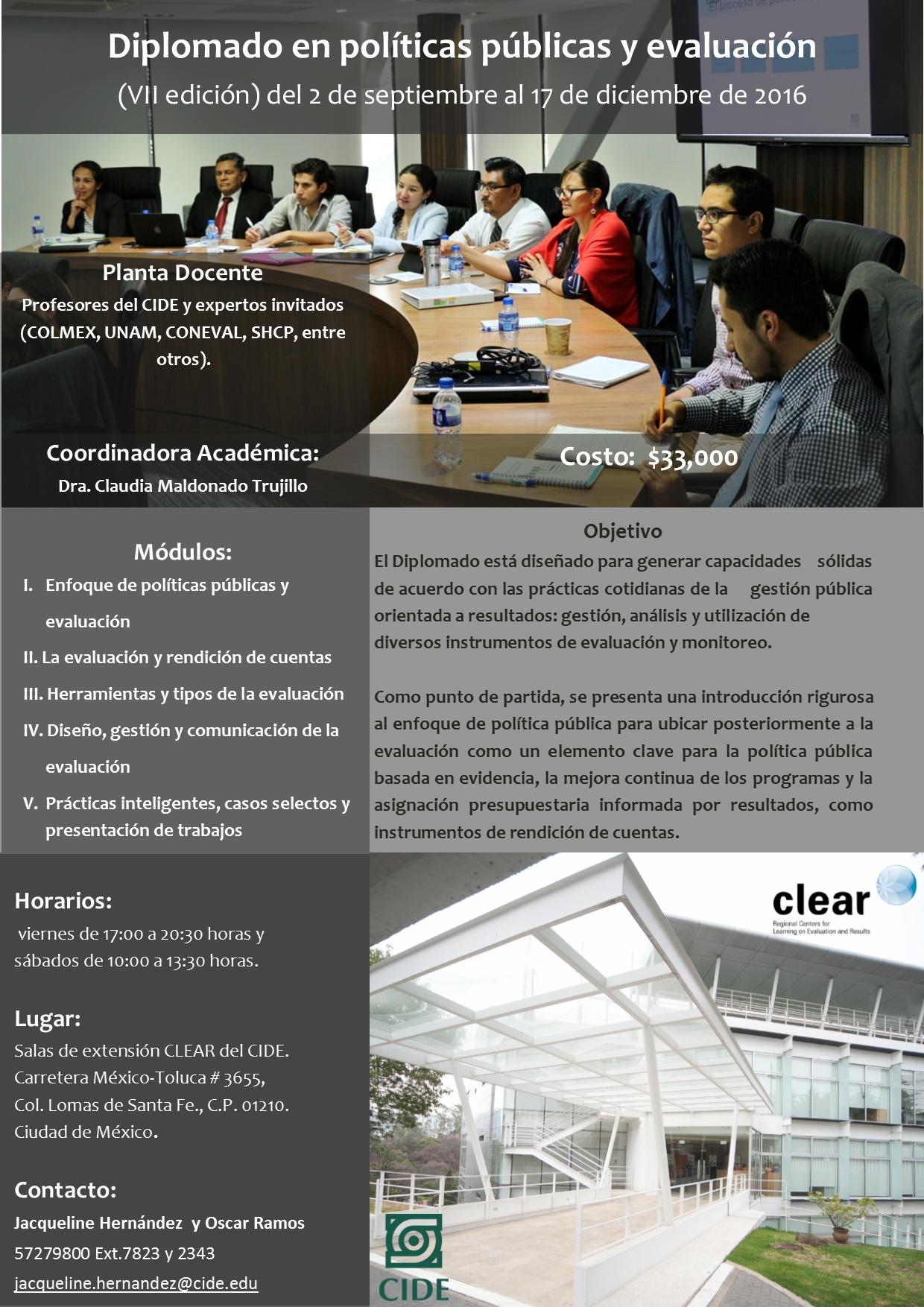 Diplomado Políticas Públicas y Evaluación 7° edición