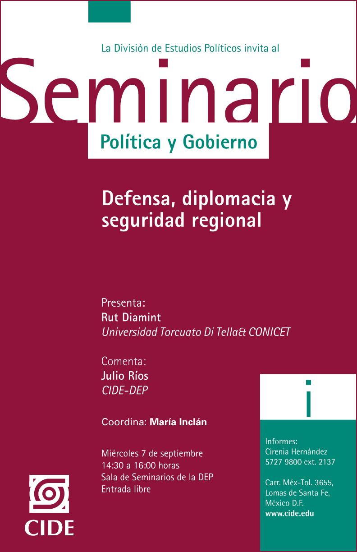 Seminario «Defensa, diplomacia y seguridad regional»