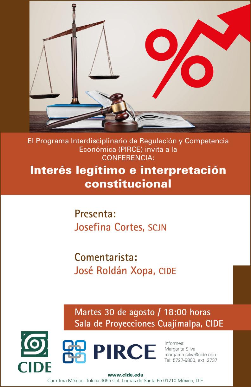 Conferencia «Interés legítimo e interpretación constitucional»
