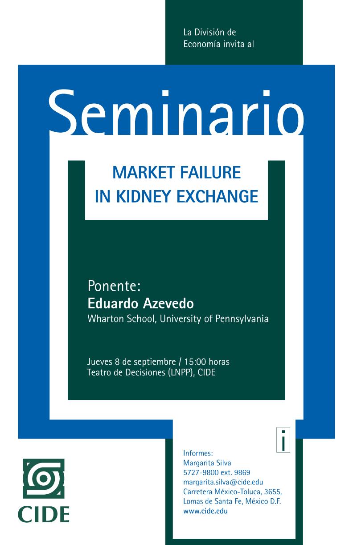 Seminario «Market Failure in Kidney Exchange»