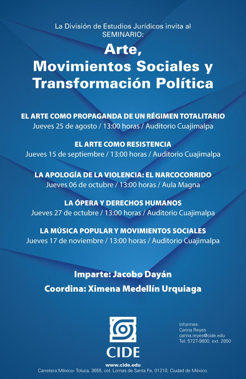 Seminario «Arte, Movimientos Sociales y Transformación Política»
