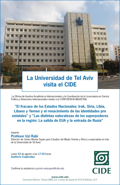 La Universidad de Tel Aviv visita el CIDE