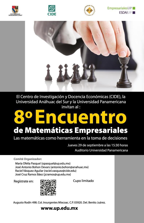 «8° Encuentro de Matemáticas Empresariales»