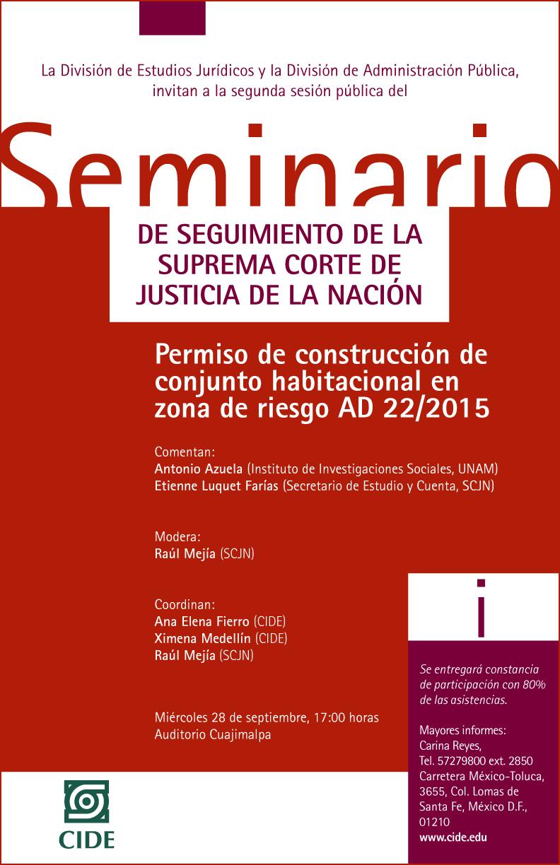 Seminario de Seguimiento de la Suprema Corte de Justicia de la Nación