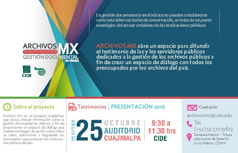 Presentación del proyecto «Archivos Mx, gestión documental en México»