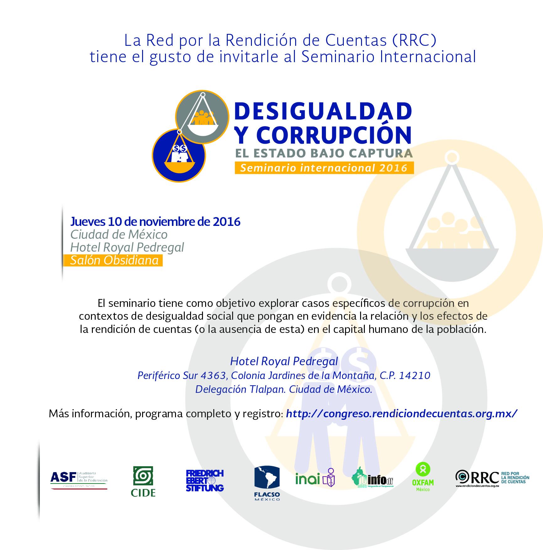 Seminario Internacional «Desigualdad y corrupción. El Estado bajo captura»