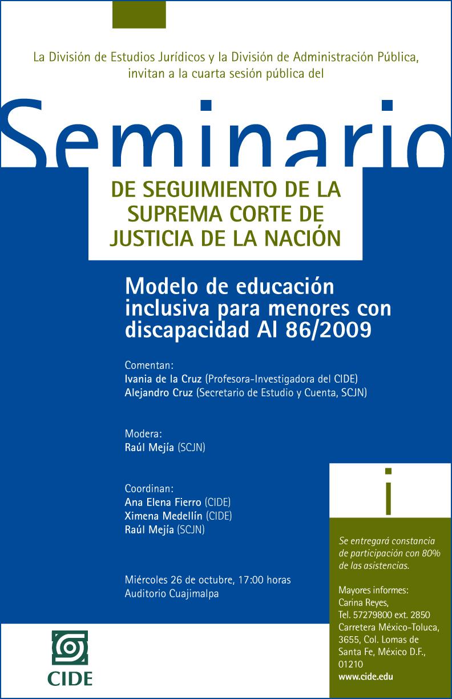 Seminario «Modelo de educación inclusiva para menores con discapacidad»