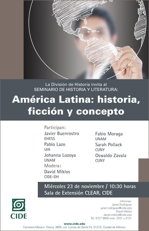 Seminario «América Latina: historia, ficción y concepto»