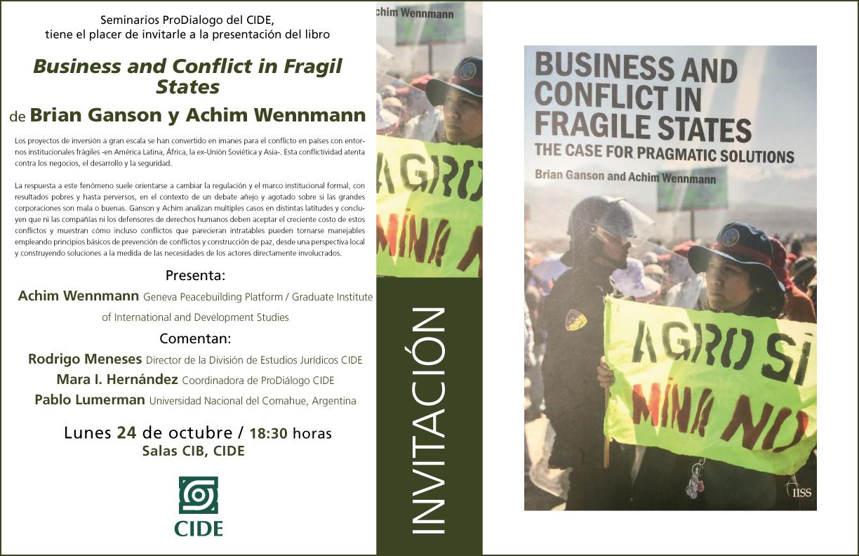 Presentación del libro «Business and conflict in fragil states»