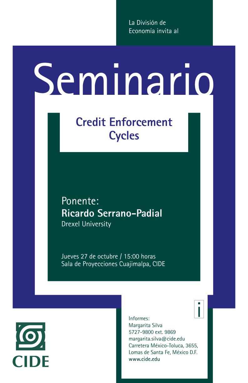 Seminario «Credit Enforcement Cycles»