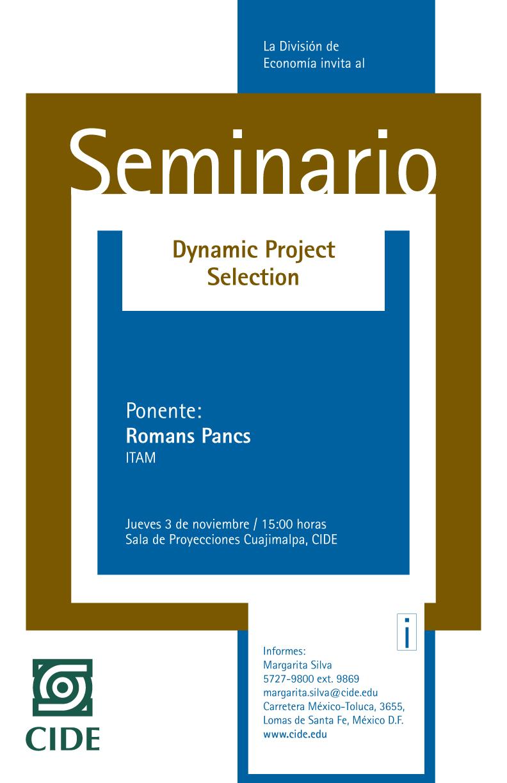 Seminario «Dynamic Project Selection»