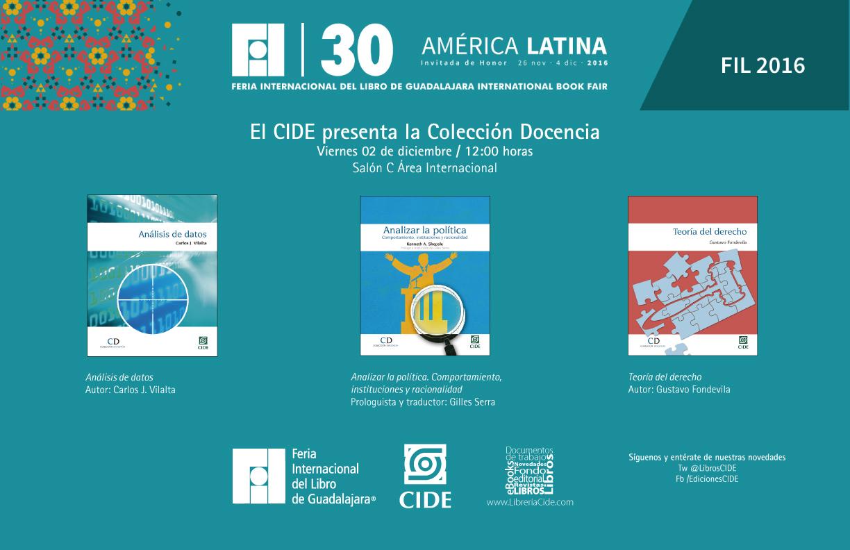 Invitación «EL CIDE presenta la Colección Docencia»