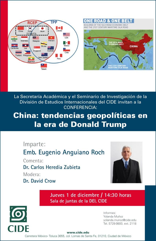Conferencia «China: tendencias geopolíticas en la era de Donald Trump»