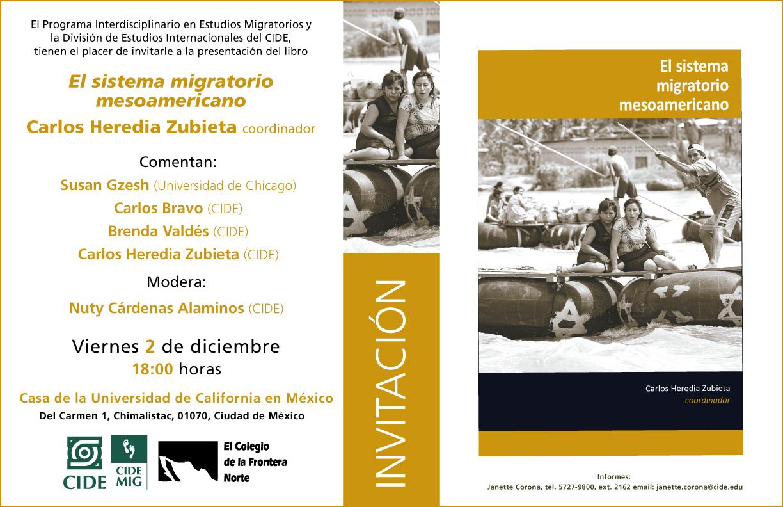 Presentación de  Libro «El Sistema migratorio mesoamericano»