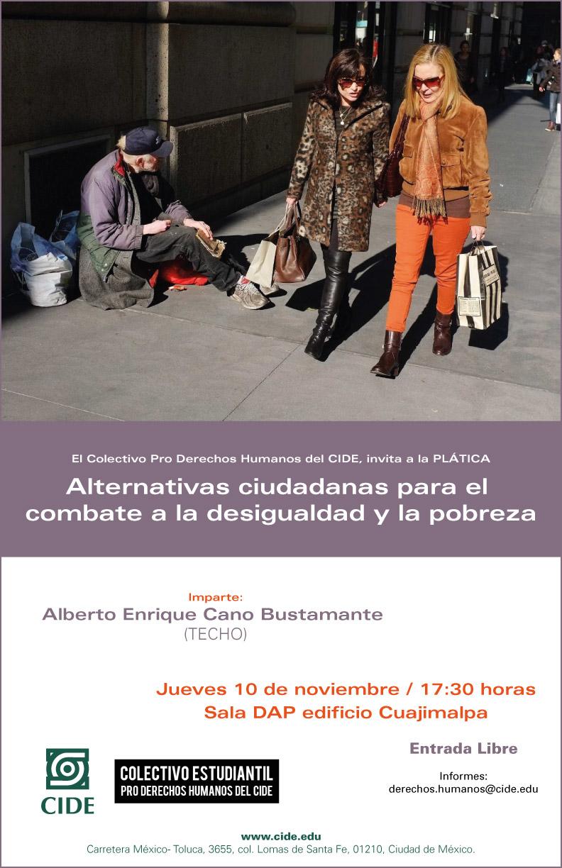 Plática «Alternativas ciudadanas para el combate a la desigualdad y la pobreza»