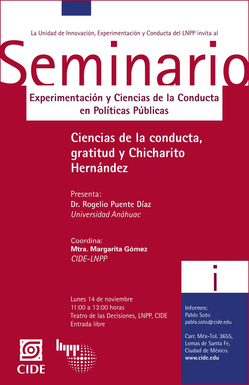 Seminario «Experimentación y Ciencias de la Conducta en Políticas Públicas «