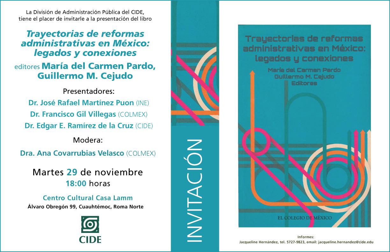 Libro «Trayectorias de reformas administrativas en México: legados y conexiones «