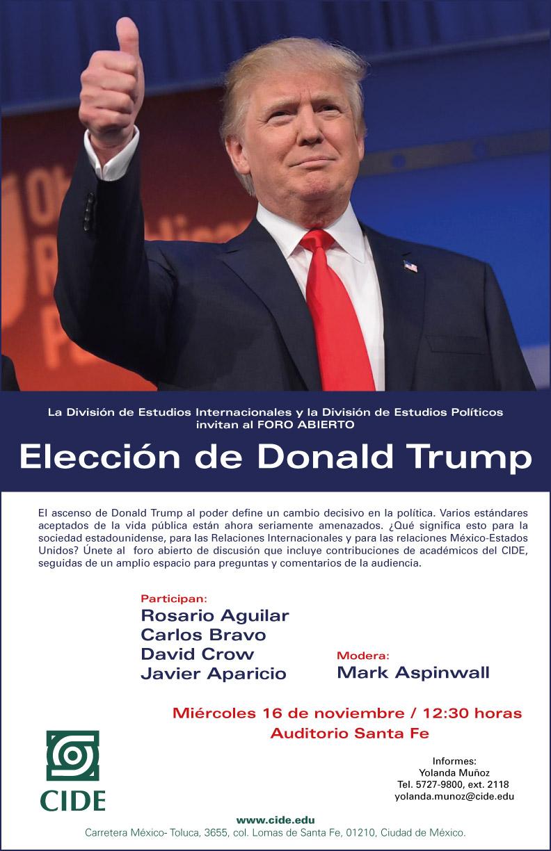 Foro «Elección de Donald Trump»
