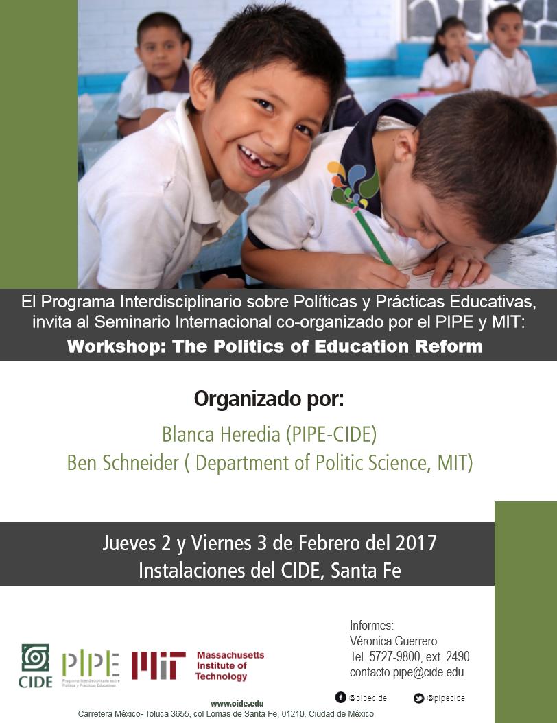 Seminario Internacional «The Politics of Education Reform»