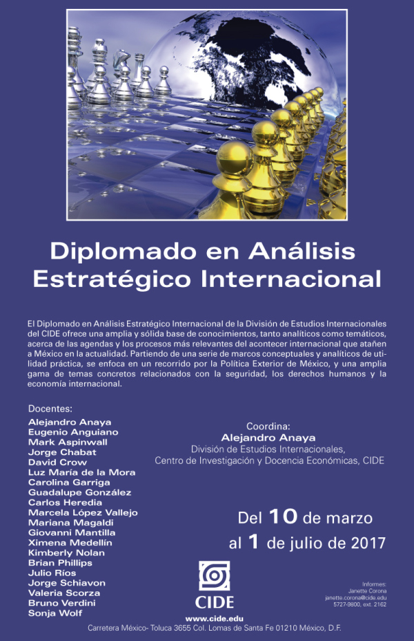 Diplomado en Análisis Estratégico Internacional
