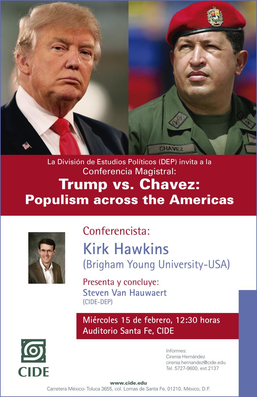 Conferencia «Trump vs. Chavez: Populism across the Americas»