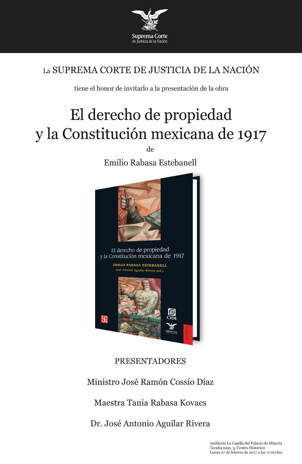 El derecho de propiedad y la Constitución mexicana de 1917