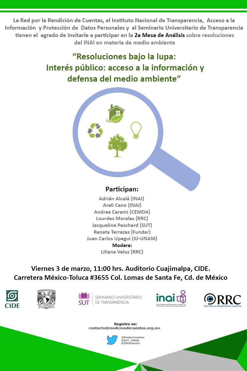 Mesa de Análisis «Resoluciones bajo la lupa: Interés publico: acceso a la información y defensa del medio ambiente»