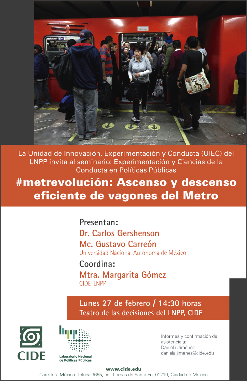 """Seminario """"#metrevolución: Ascenso y descenso eficiente de vagones del Metro"""""""