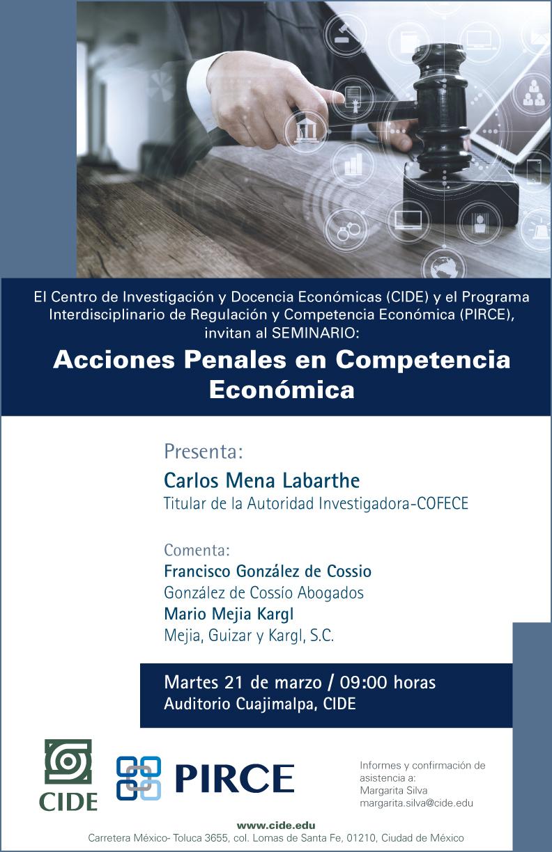 """Seminario """"Acciones Penales en Competencia Económica"""""""