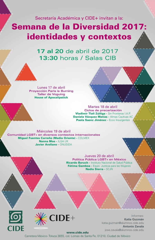 Semana de la Diversidad 2017: identidades y contextos